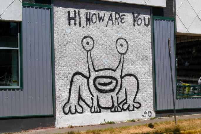 Hihowareyou for Daniel johnston mural